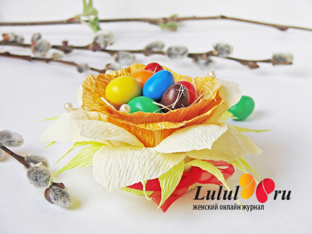 Подарок к Пасхе. Подставка под пасхальное яйцо своими руками «Весенний нарцисс» мастер-класс с фото