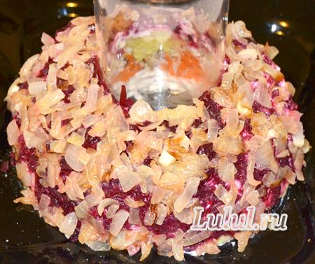 салат гранатовый браслет пошаговый