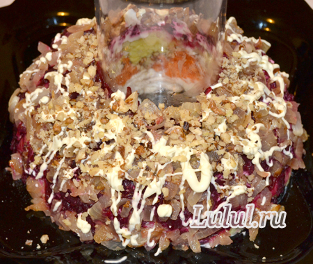 гранатовый браслет салат с орехами рецепт с фото