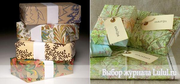 Упаковка подарков своими руками из обоев
