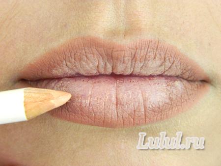 как карандашом увеличить губы