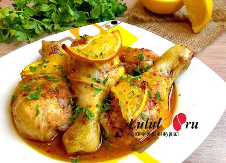 Куриные ножки в апельсиновом соусе с медом