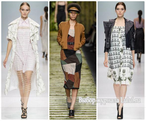 Модные образы с платьем весна лето 2017 года