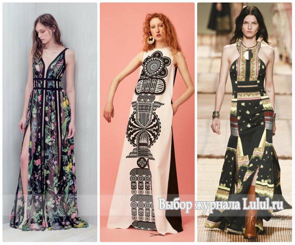 Модные длинные платья весна-лето 2017