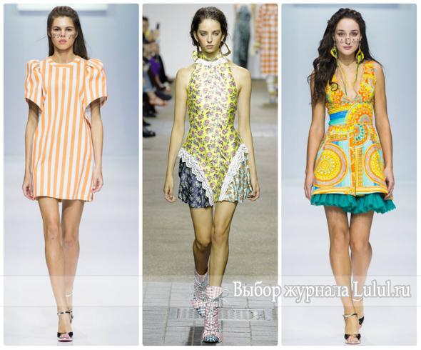 Короткие платья весна-лето 2017 года