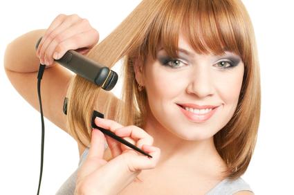 выпрямление волос в домашних условиях