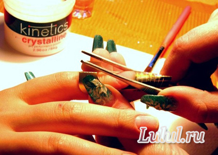 наращивание ногтей акрилом мастер класс