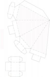 схема коробочки для подарка