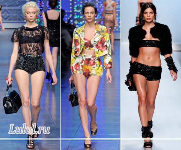 Летние женские шорты 2012 года