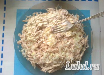 слоеный салат с маринованными опятами грибная опушка