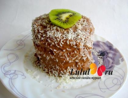 бисквит с яблоками, мини-торт