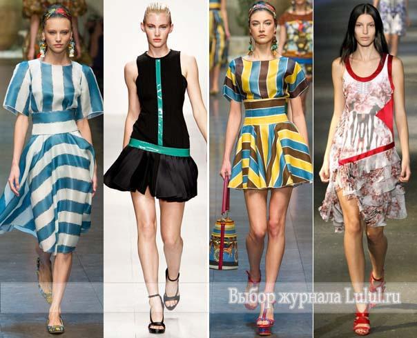 модные платья весна-лето 2013 фото