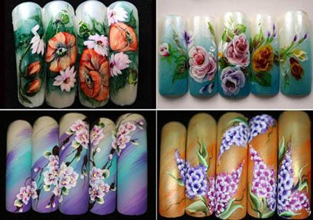китайская роспись рисунки на ногтях