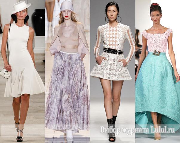 какая длина модна весной и летом 2013 года