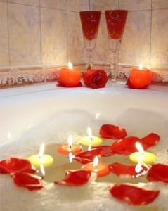как создать атмосферу романтики в ванной комнате.