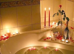 как создать атмосферу романтики в ванной комнате