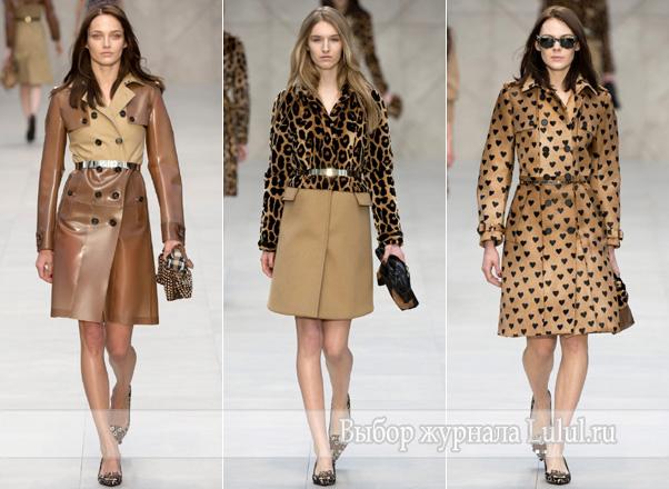 Модные пальто сезона осень 2013 зима 2014 года от Burberry Prorsum