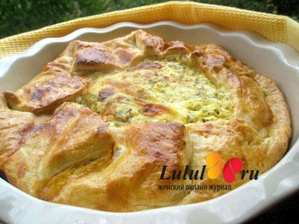 соленый открытый пирог рецепт с фото
