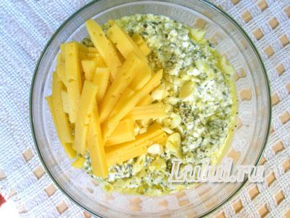 открытый пирог с сыром и чесноком