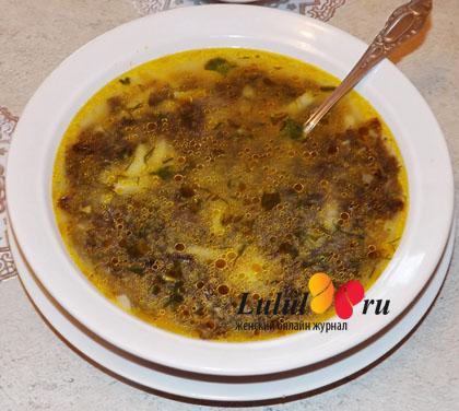 грибной супчик рецепт с фото