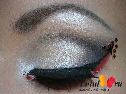 макияж на хэллоуин демон