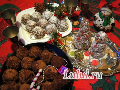 новогоднее пирожное без выпечки рецепт