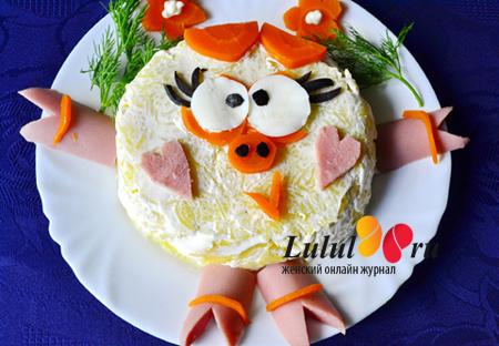 новогодний салат для детей