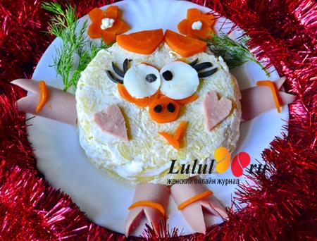 салат для детей со сметаной