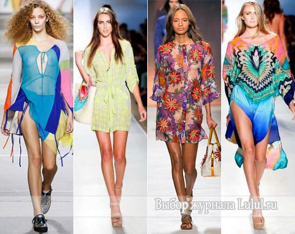 модные туники для пляжа 2015