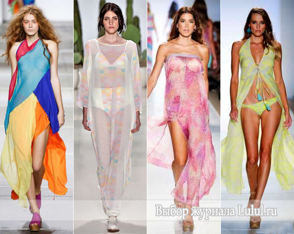 туники для пляжа мода 2015