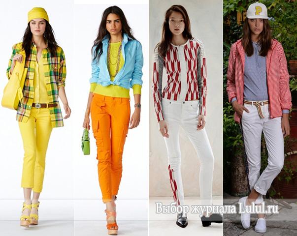 яркие и белые джинсы 2015 года