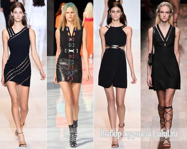 Короткие черные платья весна-лето 2015 года