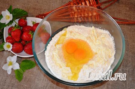 Пирожное с клубникой и безе рецепт с фото