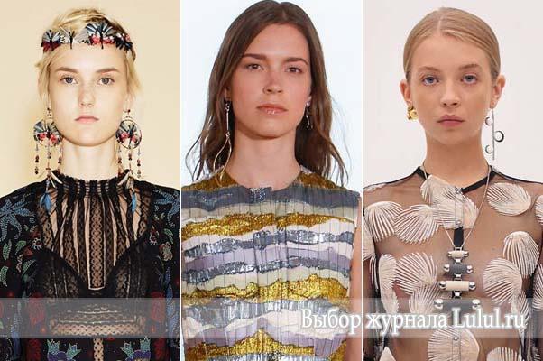 Модные длинные серьги 2016 года