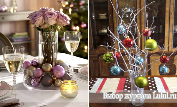 Простая новогодняя композиция в вазе своими руками