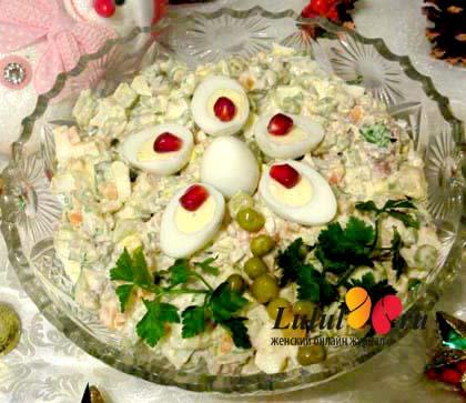 Салат «Оливье с языком». Рецепт с фото