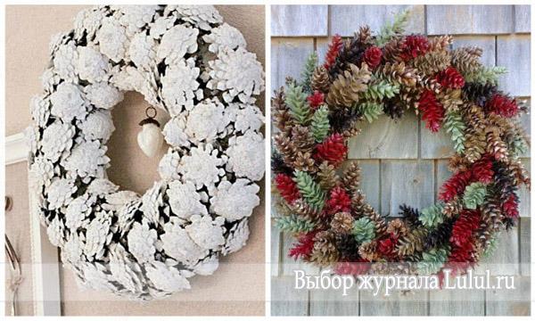 Нестандартные идеи рождественских венков фото