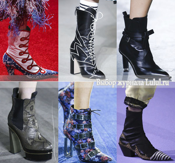 Модная обувь для весны 2016 года полусапожки