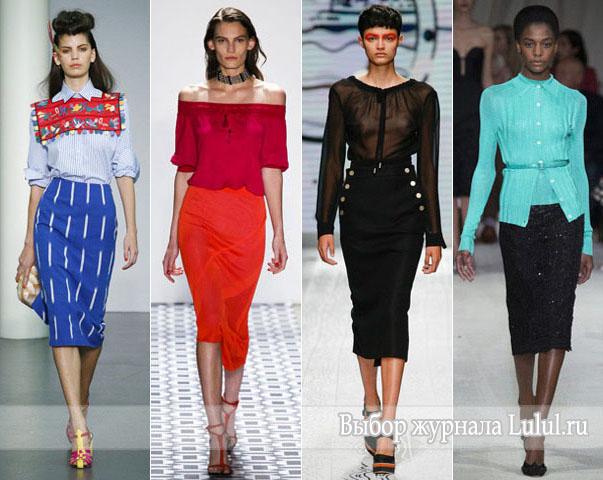 Модные юбки весна-лето 2016 года