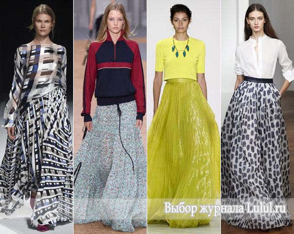 Модные юбки весна-лето 2016 года юбки в пол