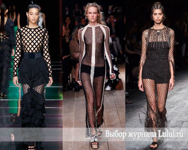 Мода весна-лето 2016: ее величество сетка