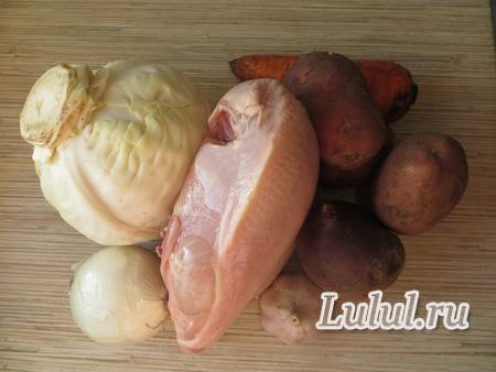 Готовим вкусный борщ на курином бульоне рецепт с фото