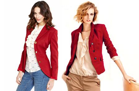 С чем носить красный пиджак