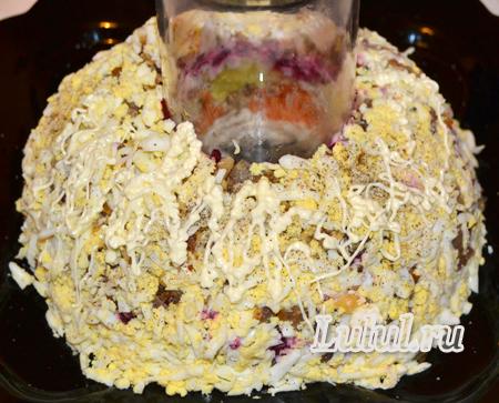 салат гранатовый браслет пошаговый рецепт фото
