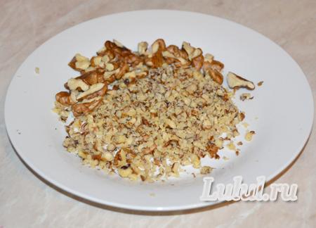 салат гранатовый браслет с грецкими орехами рецепт