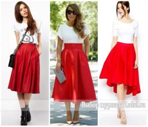 Красная юбка солнце