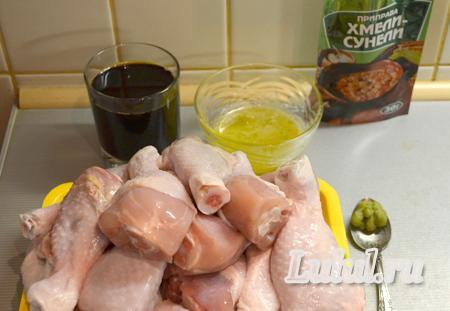 Куриные голени в медово-соевом соусе