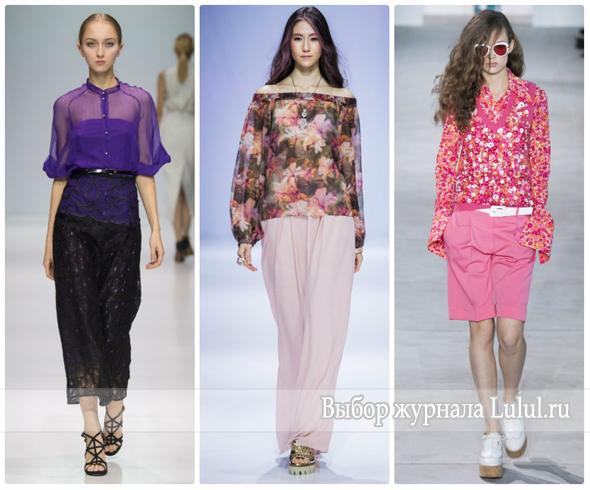Модные блузки на весну 2017