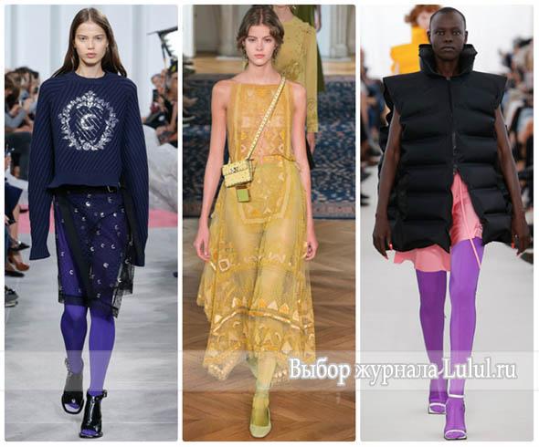 Модные колготки на 2017 год: цветные, красные, серые