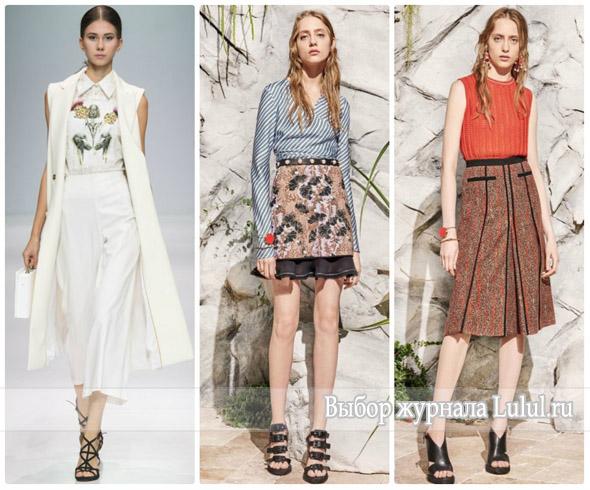 Модные образы с юбкой весна лето 2017 года